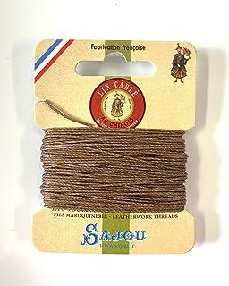 シノワ Fil Au Chinois 手縫い用麻糸(リネン)size332(0.77mm) 10m card 色番185-Beige