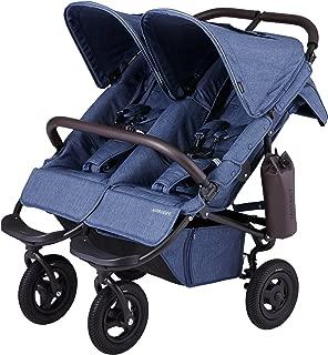 エアバギー AirBuggy ココ ダブル フロムバース アースブルー 双子用 二人乗り ベビーカー 新生児から使用可能 メッシュクッション内蔵・専用レインカバー付き ABFB3001
