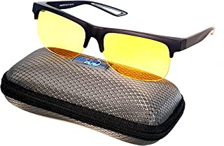 Fit Over Night Vision Driving Glasses Clip on Polarized Yellow Anti Glare lens