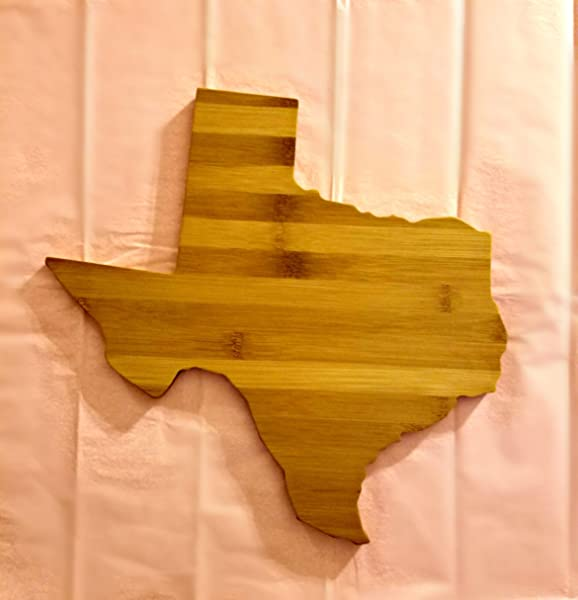 Texas Coasters State Shaped Bamboo Coasters Set Of Four NO CUP HOLES Natural Or Caramel Bamboo Coasters Wood Gift Idea Mitten Made Woodcrafts