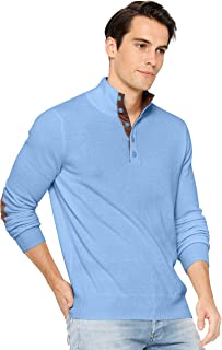 Sponsored Ad - State Cashmere Button Up Mock Neck Sweater 100% Pure Cashmere Long Sleeve Polo Quarter Collar Pullover