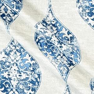 Magnolia Home Fashions Romano Ocean Fabric by the Yard