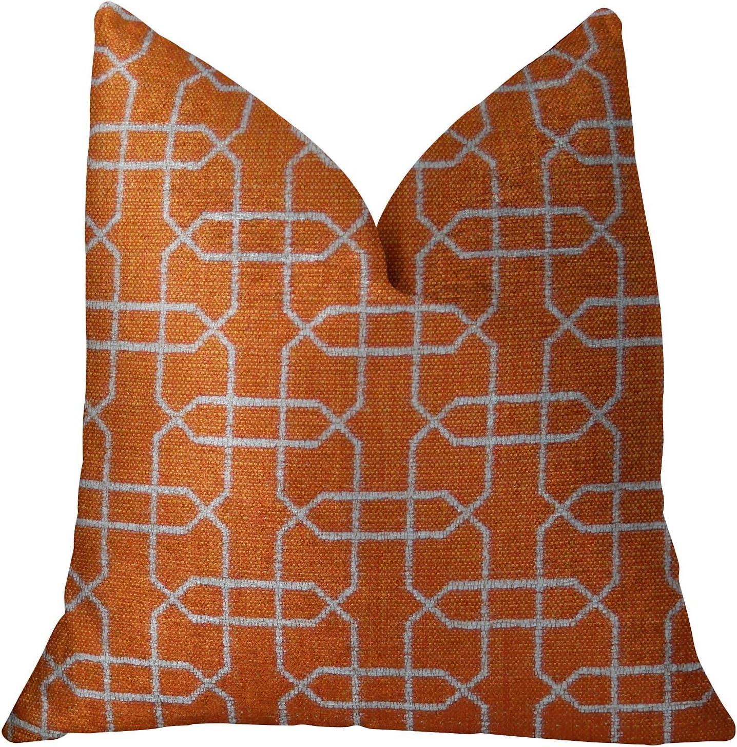 Plutus Brands Ardmore Persimmon Throw OFFer Handmade Pillow Surprise price 18