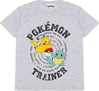 Popgear Pokemon Trainer Catch Em All Boys T-shirt Heather Grey jongens mode-t-shirts
