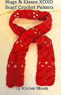 Hugs & Kisses XOXO Scarf Crochet Pattern