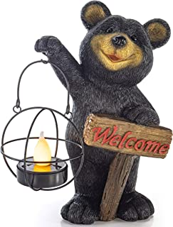 VP Home Welcome Bear - Luz LED para decoración de jardín c