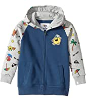 Quiksilver Kids - Mr. Men Hooded Zip Hoodie (Toddler/Little Kids)
