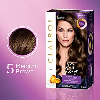 Clairol Age Defy Expert Collection, 5 Medium Brown, Permanent Hair Color, 1 Kit (PACKAGING MAY VARY)