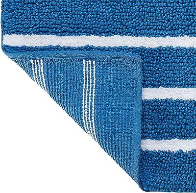 """Southern Tide Breton Bath Rug, 20"""" W x 32"""" L, White/Cobalt Blue"""