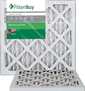 Best FilterBuy 12x12x1 MERV 8 Pleated AC Furnace Air Filter, (Pack of 2 Filters), 12x12x1 – Silver Review