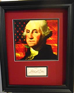 President George Washington autograph