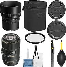 Sigma105mm f/2.8 EX DG OS HSM Macro Lens for Canon EOS Cameras + Essential Bundle Kit + 1 Year Warranty - International Version (No Warranty)