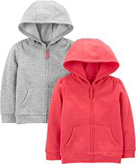 Simple Joys by Carter's Toddler Girls' 2-Pack Fleece Full Zip Hoodies