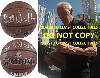 Bill Walton, LA Clippers, Trail Blazers, UCLA, signed, autographed, basketball, COA with proof