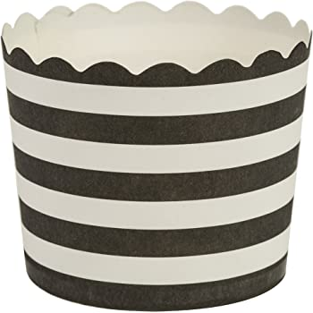 40 Count Inc 70188 Regency Wraps Greaseproof Baking Cups Standard Black and White Stripes