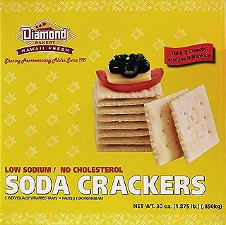 Diamond Bakery Hawaiian Original Crackers Large Box (Low Sodium Soda Crackers)