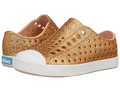 Native Kids Shoes Jefferson Bling Glitter (Toddler/Little Kid) (Rose Gold Bling) Girls Shoes