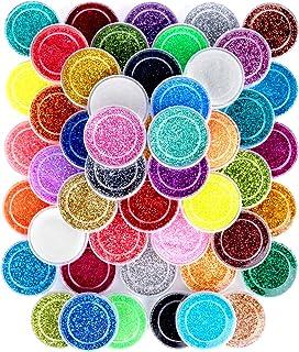 48 Colors Nail Glitter Set, FANDAMEI 48 Boxes 5g Nail Art Glitter, Fine Glitter Powder for Eyeshadow, Cosmetic, Arts, Craf...