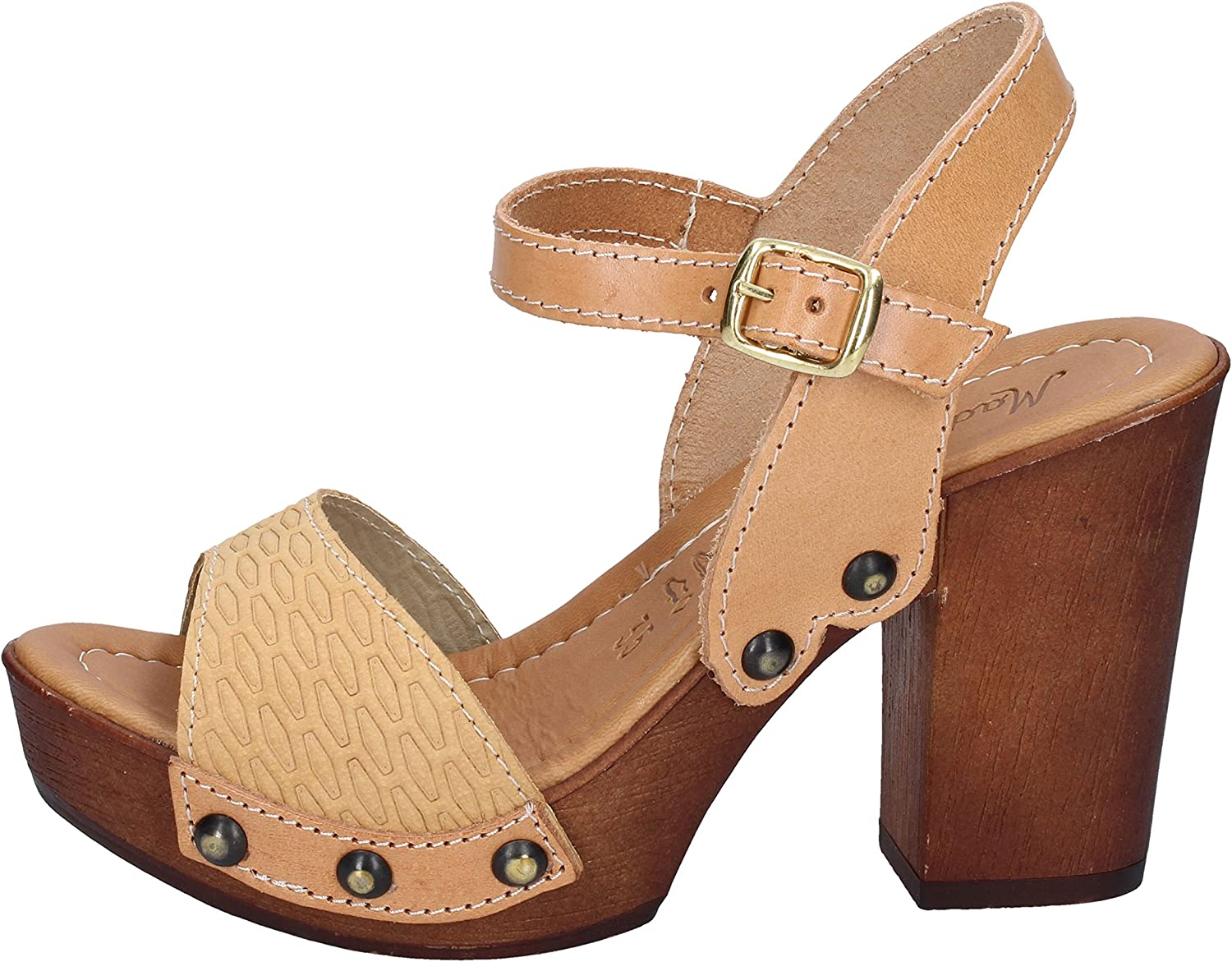 Made In  Sandals Womens Brown