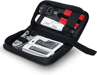 CSL - Tester de Cables de Red para Cable RJ45 RJ11 - Comprobador de Cables de conexión Comprobador de conductividad - Dos velocidades Distintas - Selector On Off