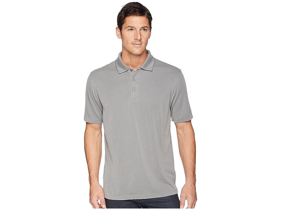 5cda986ad BUGATCHI Short Sleeve Polynosic Polo (Charcoal) Men