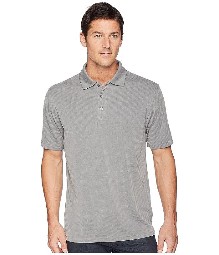 BUGATCHI Short Sleeve Polynosic Polo (Charcoal) Men