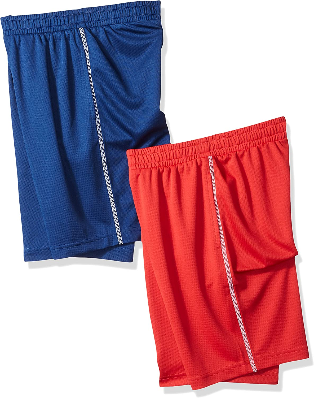 EU 104-110 cm Essentials 2-Pack Boys Pull-on Woven Shorts 2 St/ück grau//Marineblau