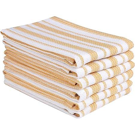 Towels Kitchen Cotton Dish Sassy Towel Bar Set Design Soft Pack 12 Resuable Blue