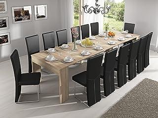 Home Innovation - Table Console Extensible rectangulaire avec rallonges, jusqu'à 300 cm, pour Salle à Manger et séjour, ch...