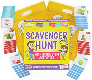 Scavenger Hunt Game for Kids - Outdoor Activities for Kids Ages 4-8 - Card Based Camping Games - Indoor Family Fun with ST...