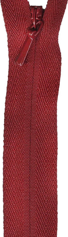 American & Efird Unique Invisible Zipper 14 Cranberry