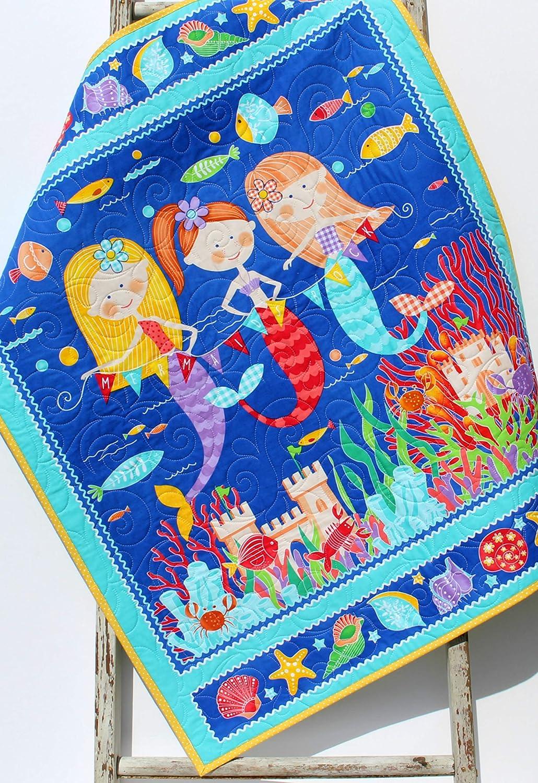 Mermaid Baby Blanket Nautical Crib Newbor Superior Quilt Bedding Girls Opening large release sale