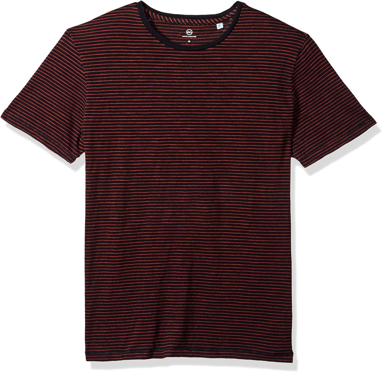 AG Adriano Goldschmied Men's Julian Bombing Dallas Mall free shipping Stripe Indigo Short C Sleeve