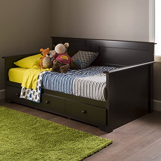 B018YZ2VOU✅South Shore 10079 Daybed with 3 Storage Drawers, Chocolate, 39″,
