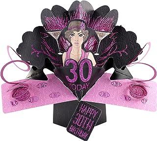 Suki Gifts International Tarjeta Pop Up de la Marca, felicitación de cumpleaños número 30