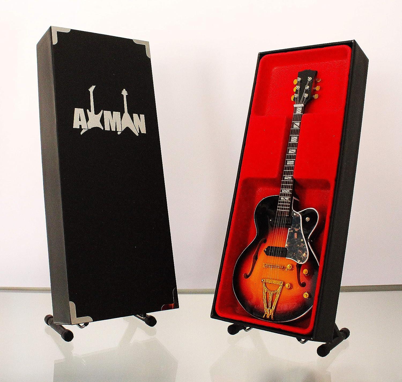 Axman Elvis Presley - Réplica de guitarra en miniatura con caja de exhibición y soporte