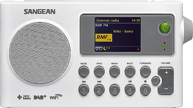 Sangean Sir 100 Tragbares Internetradio Radio Dab Ukw Wlan Spotify Mp3 Wecker Weiß Heimkino Tv Video