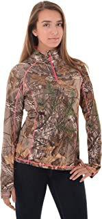Realtree Womens 1/4 Zip Performance Shirt