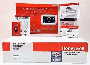 Honeywell Vista 21iP With TUXWIFIW Tuxedo Touch Battery, Siren, (3) 5816WMWH, (1) 5800PIR, (1) 5834-4 …
