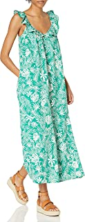 Women's @graceatwood Ruffle V-Neck Maxi Dress