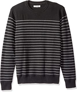 Amazon Brand - Goodthreads Men's Soft Cotton Multi-Color Striped Crewneck Sweater
