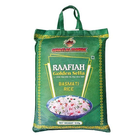 SHRILALMAHAL Basmati Rice, Raafiah Golden Sella, 10 Kg