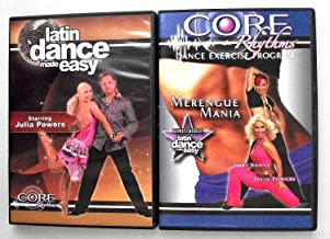 Core Rhythms Merengue Mania and Latin Dance Made Easy 2 DVD Set Workout Exercise