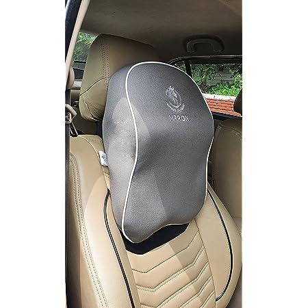 MRRON SUPREME Series memory foam Neck/Headrest Rest & Shoulder Support For Car or Office Chair- Neck Pillow Kit Designed Ergonomically For Extra Neck Support (GREY)