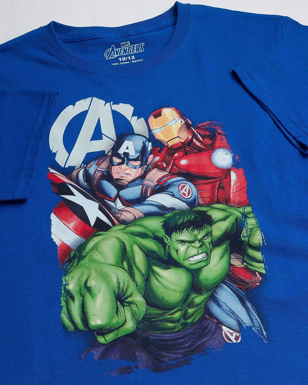 Hulk Marvel Avengers Boys 3 Pack T-Shirts Captain America Spider-Man