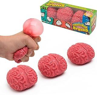IPIDIPI TOYS Squishy Brain Fidget Splat Ball - 3 Pack - Anti Stress - Popping for Adults Children - Anxiety Reducer Sensor...