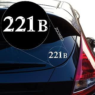 Yoonek Graphics Sherlock Holmes 221B Baker Street Decal Sticker for Car Window, Laptop and More. # 513 (2