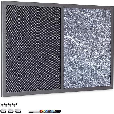 80x60cm, muro magnetico, lavagna, lavagna, murale in pietra naturale con 1 calamita in pietra 40x60cm in diversi tipi e dimensioni 30x60cm 4 in 1 lavagna magnetica Grey Impact 30cmx61cm