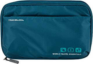Travelon World Travel Essentials Tech Organizer, Peacock Teal, One Size