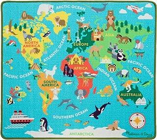 Melissa & Doug Round The World Travel Activity Rug (3 Wooden Vehicles, Passport with Stickers, 39